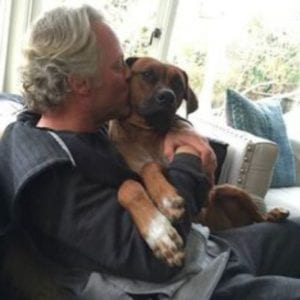 Scott Yancey with his dog Flip